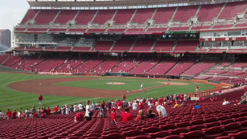 Seating view for Great American Ball Park Section 111 Row LL Seat 18