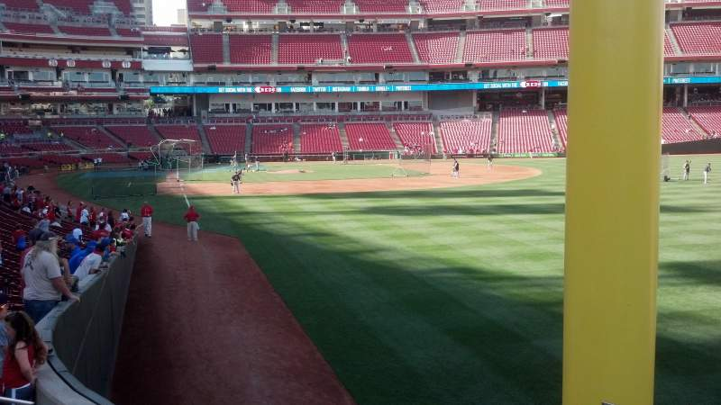 Seating view for Great American Ball Park Section 139 Row Z Seat 4