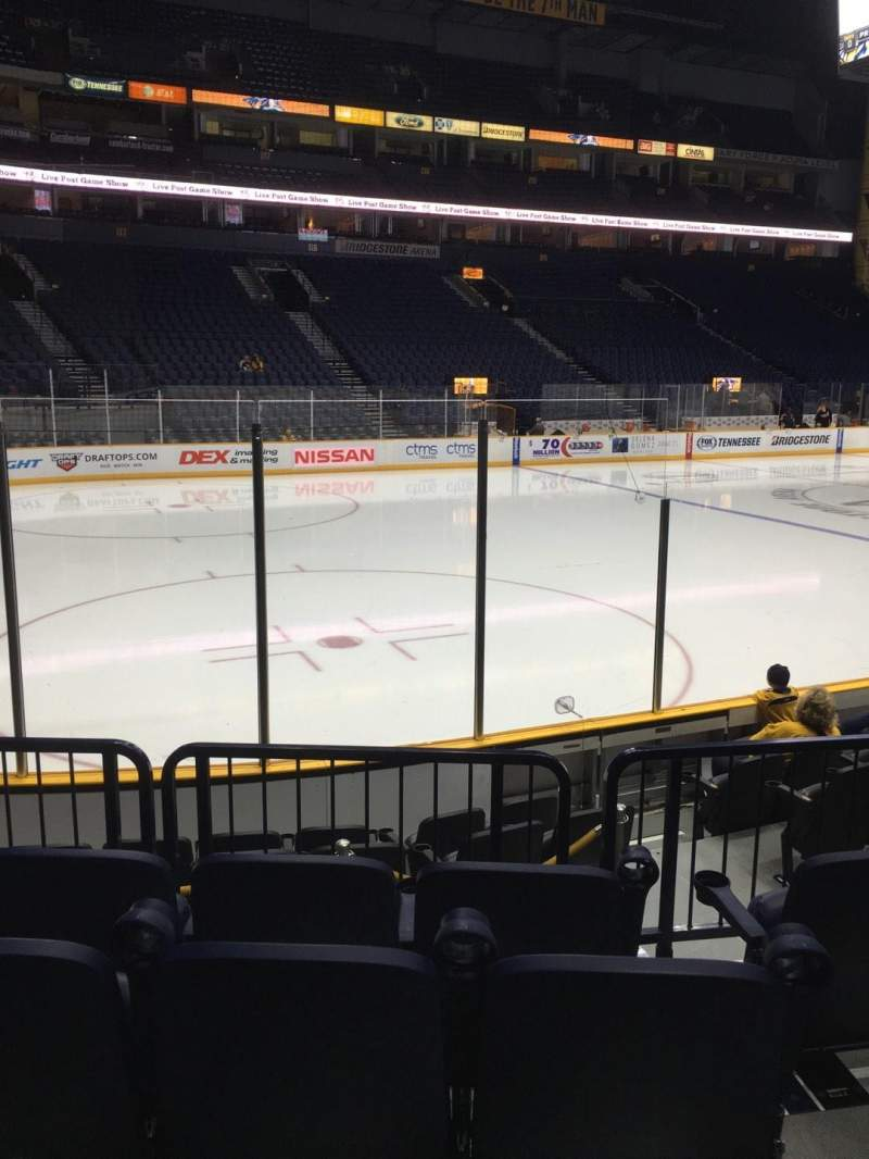 Seating view for Bridgestone Arena Section 103 Row Jj Seat 5-6