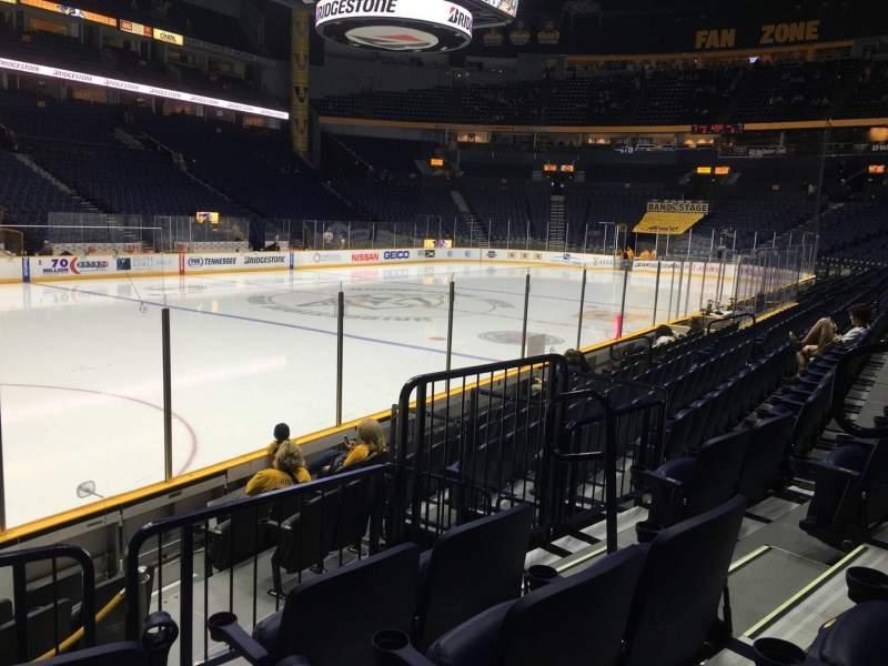 Seating view for Bridgestone Arena Section 103 Row Jj Seat 5