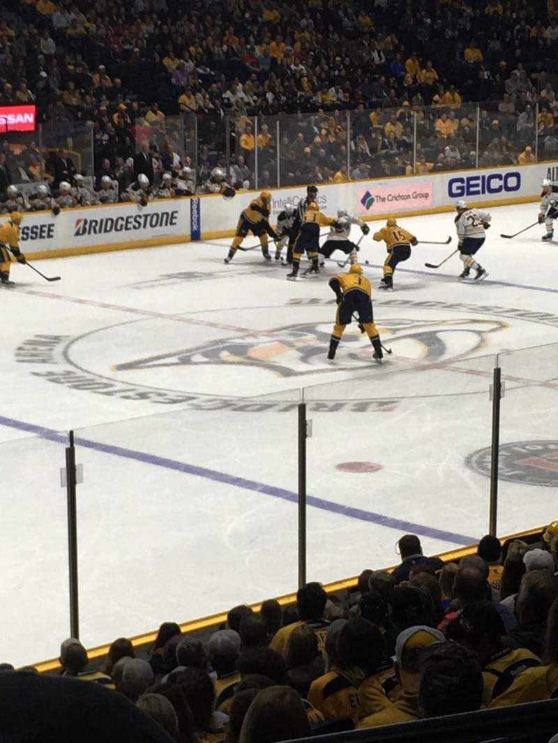 Seating view for Bridgestone Arena Section 103 Row E Seat 5