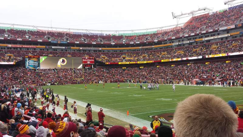 Seating view for FedEx Field Section 114 Row 11 Seat 13
