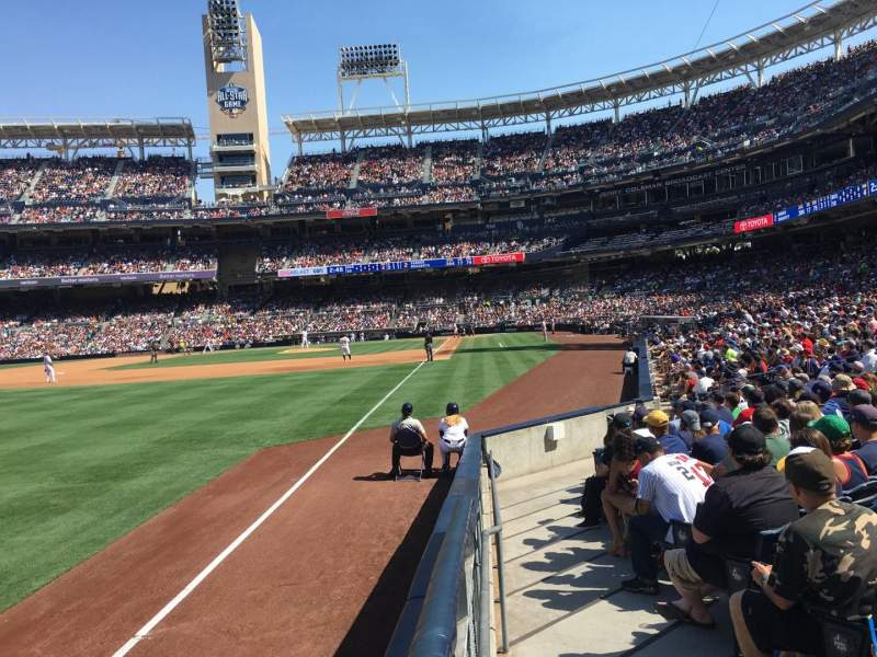 Seating view for PETCO Park Section 124 Row 15 Seat 1