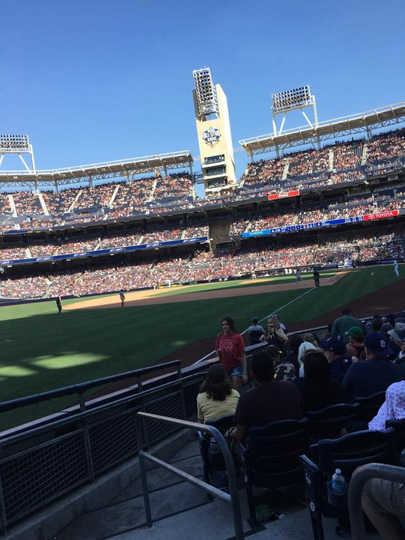 Seating view for PETCO Park Section 124 Row 15 Seat 2