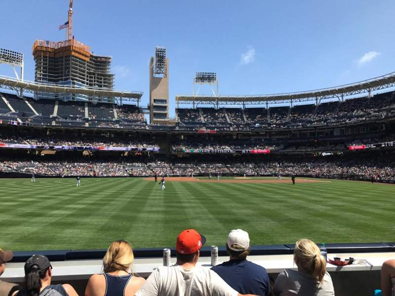 Seating view for PETCO Park Section 130 Row 2 Seat 10