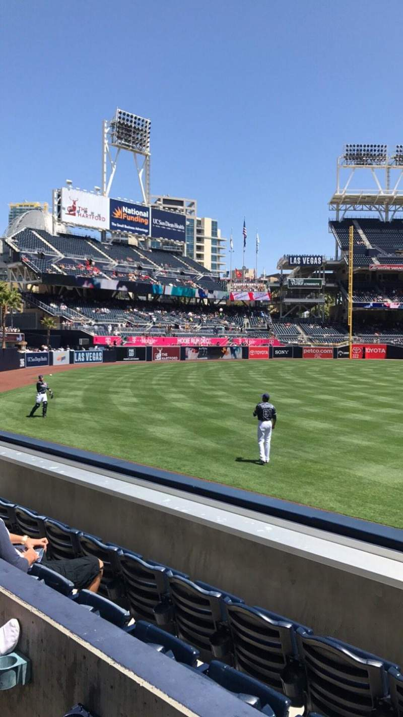 Seating view for PETCO Park Section 130 Row 2 Seat 9