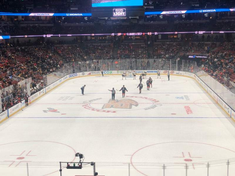 Seating view for Honda Center Section 326 Row A Seat 10