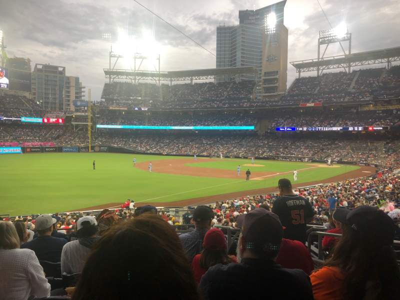 Seating view for PETCO Park Section 122 Row 34 Seat 3