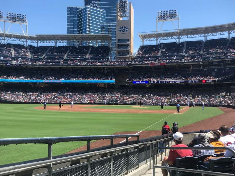 Seating view for PETCO Park Section 124 Row 15 Seat 5
