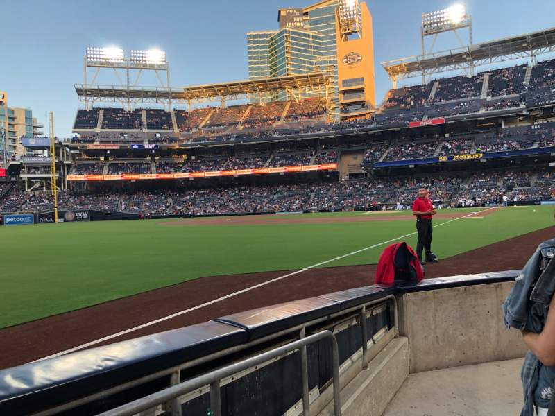Seating view for PETCO Park Section 122 Row 5 Seat 12