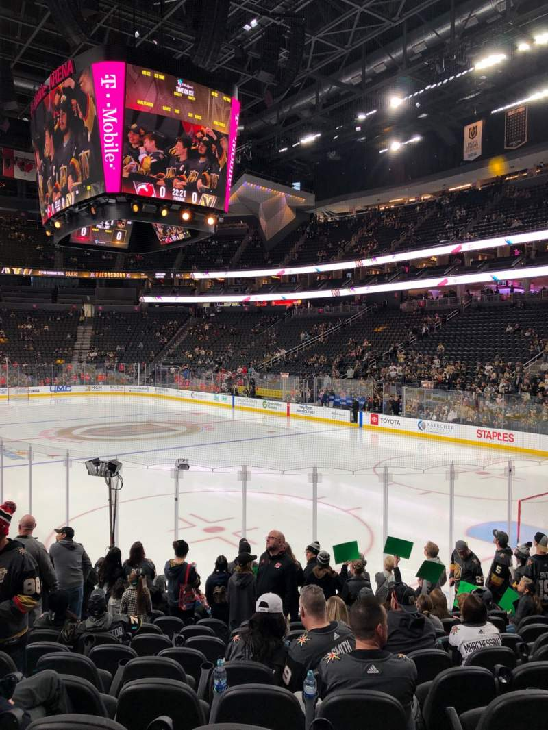 Seating view for T-Mobile Arena Section 19 Row L Seat 7
