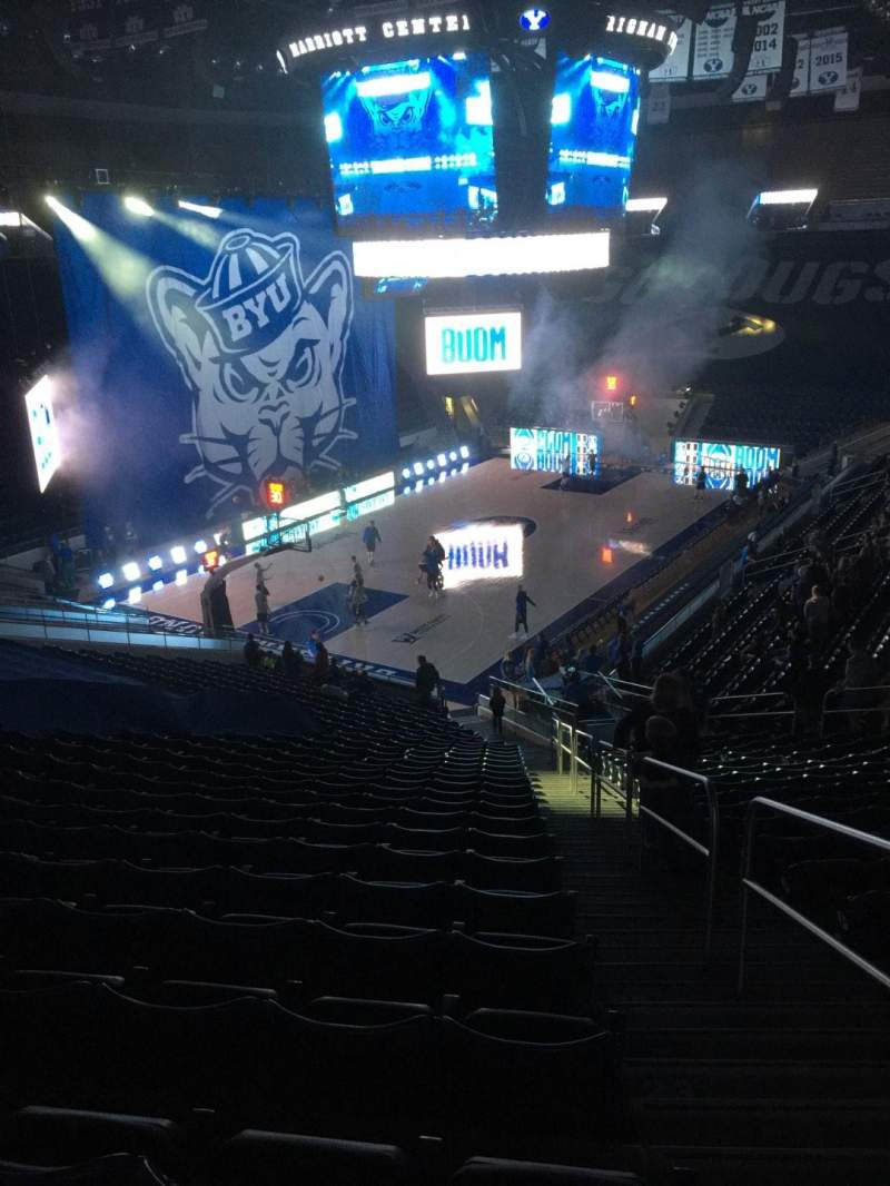 Seating view for Marriott Center Section 13 Row 26 Seat 1