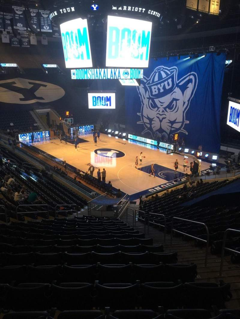 Seating view for Marriott Center Section 6 Row 24 Seat 4