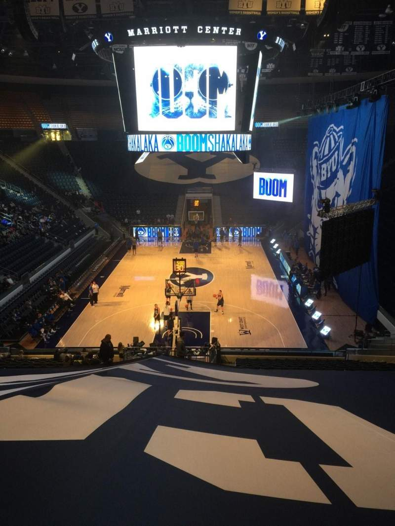 Seating view for Marriott Center Section 3 Row 25 Seat 18
