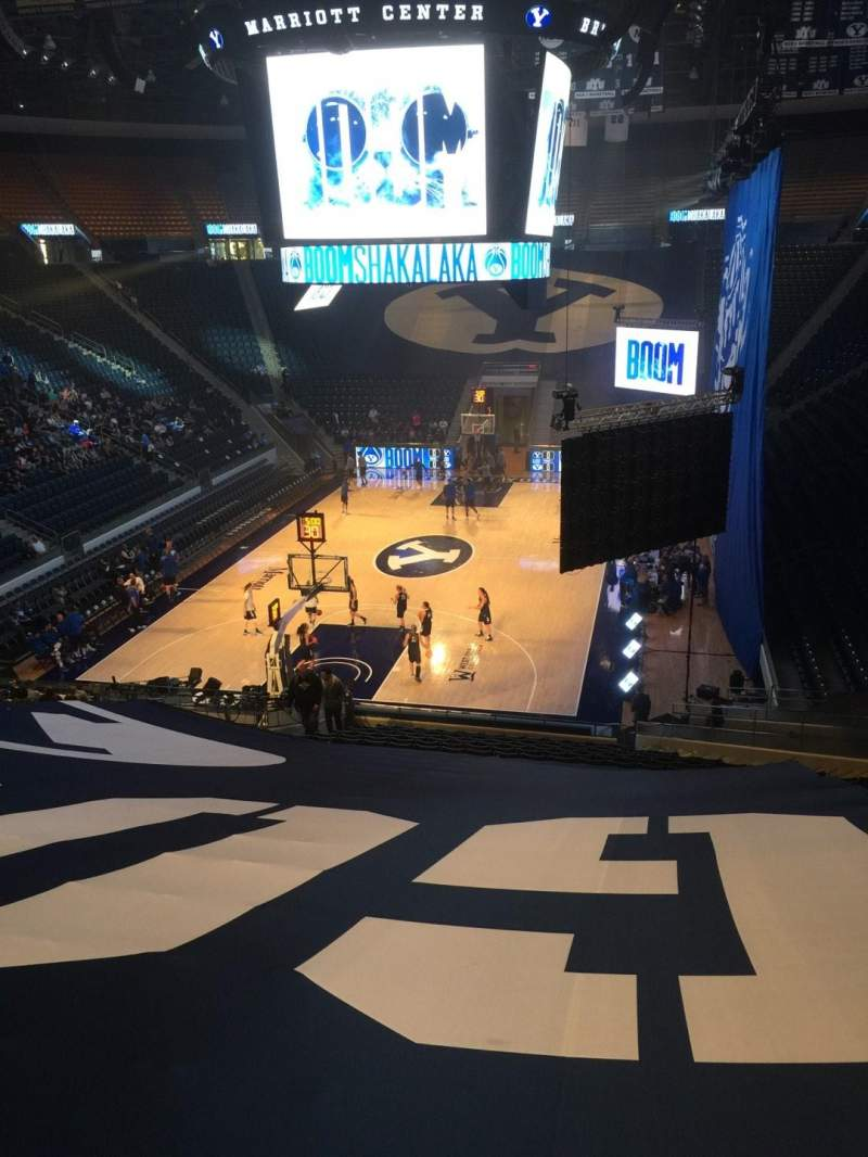Seating view for Marriott Center Section 3 Row 25 Seat 3