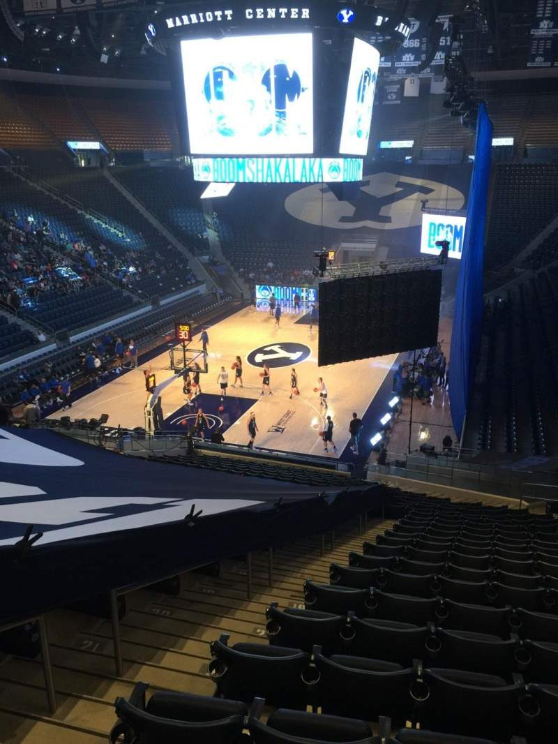 Seating view for Marriott Center Section 2 Row 25 Seat 18