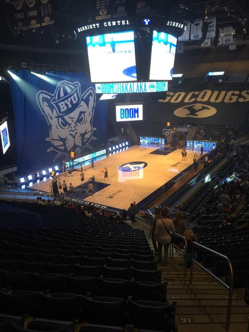 Seating view for Marriott Center Section 13 Row 25 Seat 1