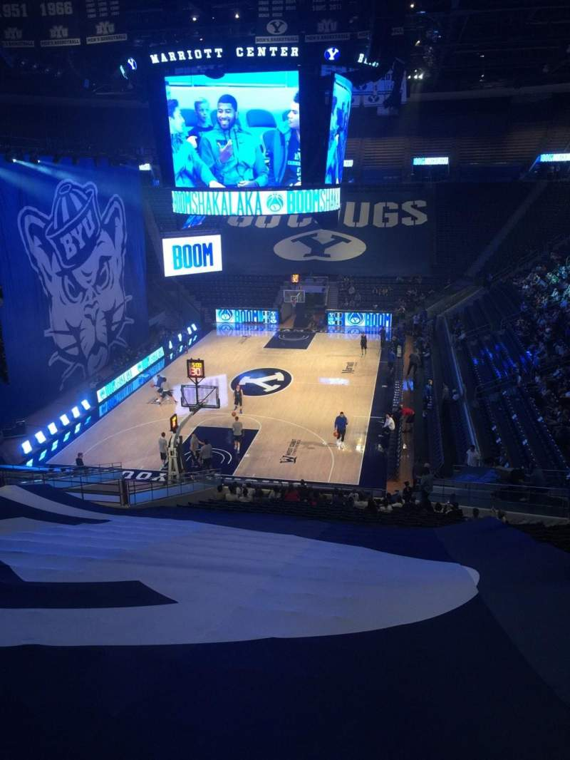Seating view for Marriott Center Section 14 Row 26 Seat 3
