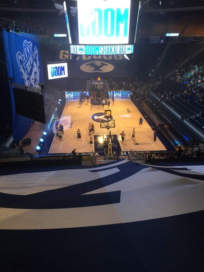 Seating view for Marriott Center Section 15 Row 26 Seat 4