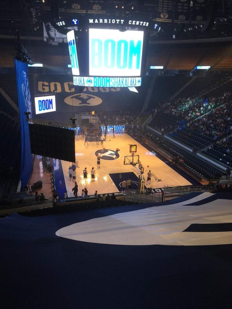 Seating view for Marriott Center Section 15 Row 26 Seat 18