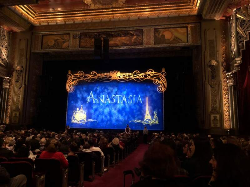 Seating view for Hollywood Pantages Theatre Section Orchestra RC Row X Seat 201