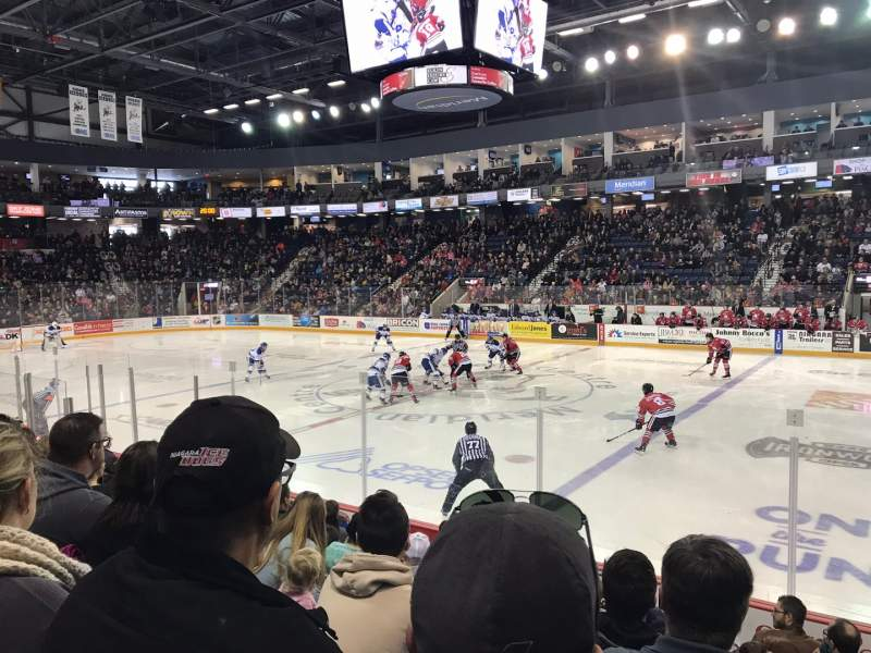 Seating view for Meridian Centre Section 113 Row H Seat 6