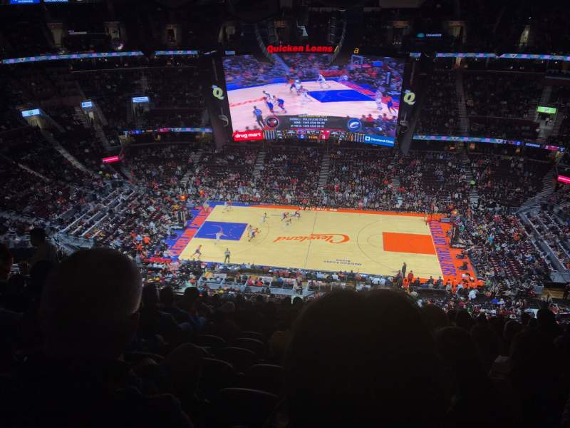Seating view for Rocket Mortgage FieldHouse Section 209 Row 15 Seat 11