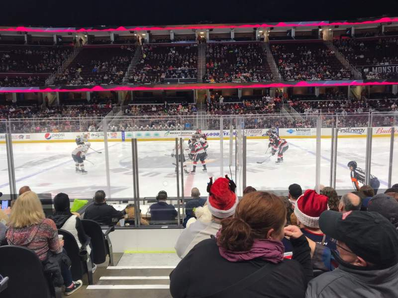 Seating view for Rocket Mortgage FieldHouse Section 120 Row 9 Seat 18