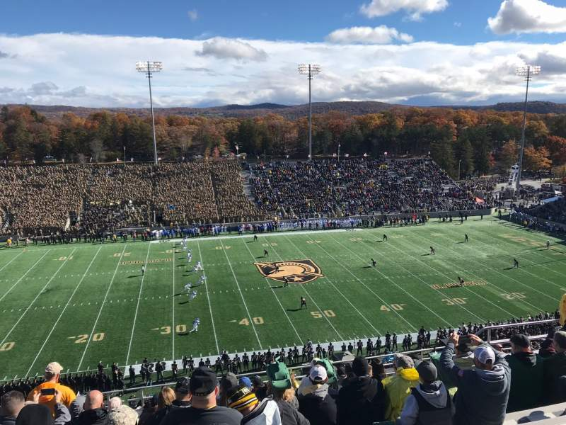 Seating view for Michie Stadium Section U-14 Row N Seat 1