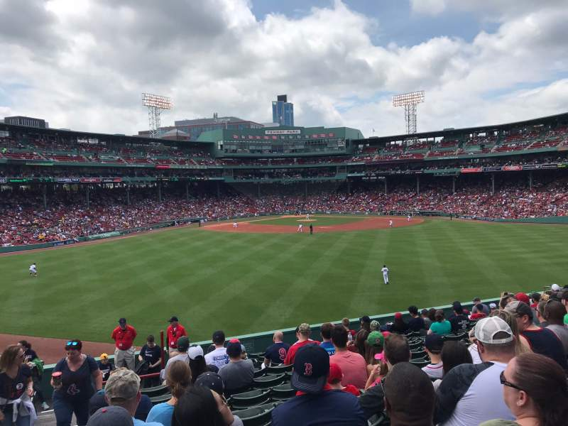 Seating view for Fenway Park Section Bleacher 36 Row 16 Seat 27