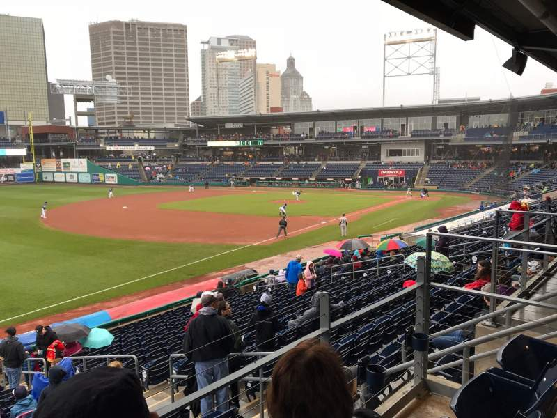 Seating view for Dunkin' Donuts Park Section 123 Row E Seat 14