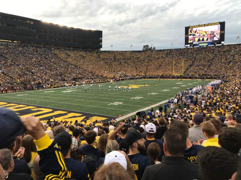 Seating view for Michigan Stadium Section 8 Row 25 Seat 13