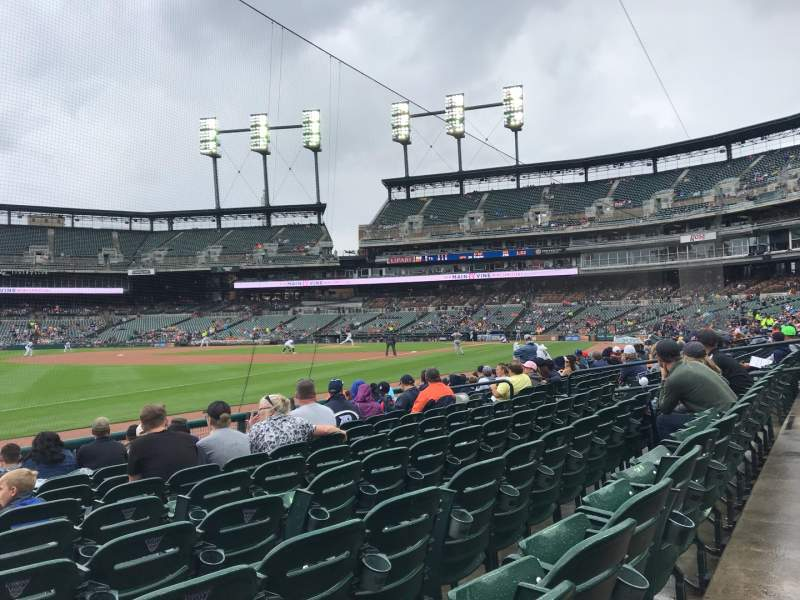Seating view for Comerica Park Section 139 Row 10 Seat 18