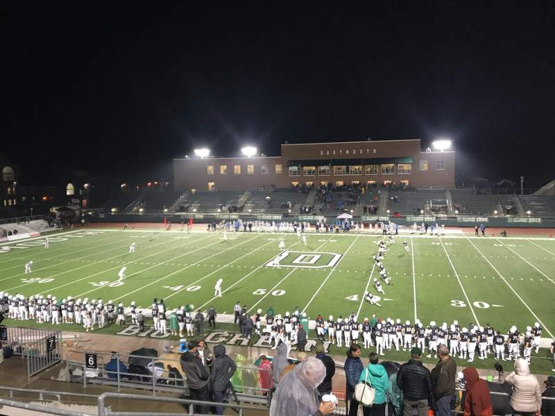 Seating view for Memorial Field (Dartmouth) Section 5 Row KK Seat 18