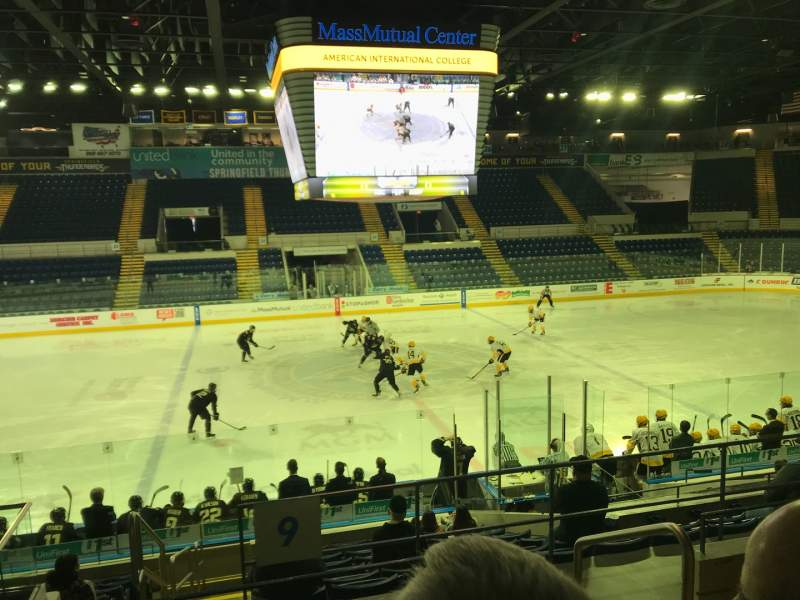 Seating view for MassMutual Center Section 9 Row K Seat 2