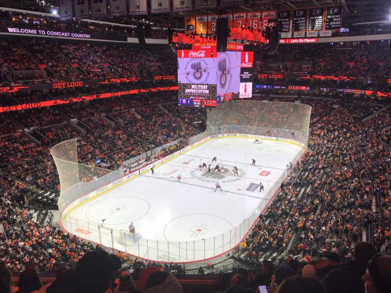 Seating view for Wells Fargo Center Section 209 Row 8 Seat 9