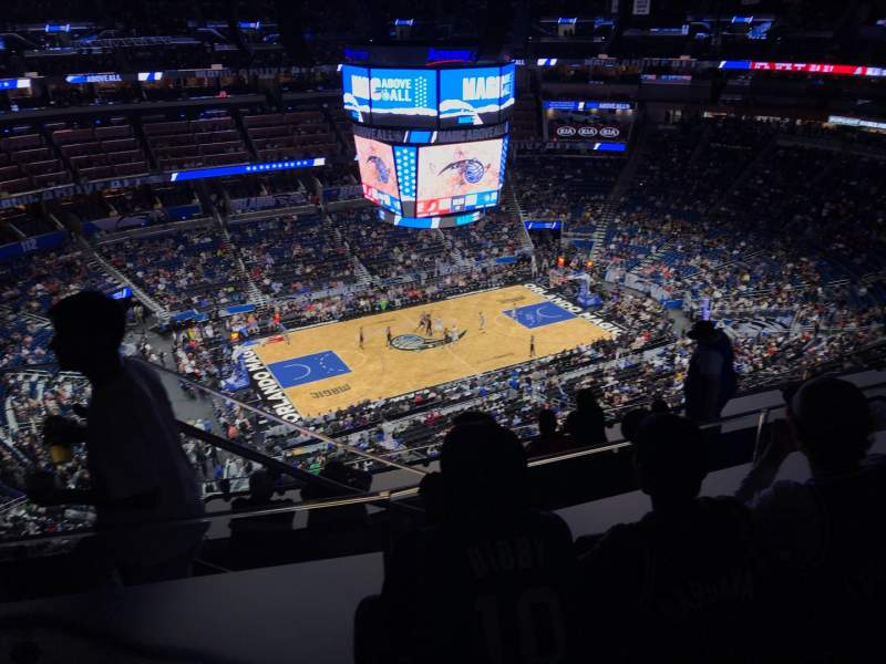 Seating view for Amway Center Section 211 Row 11 Seat 19