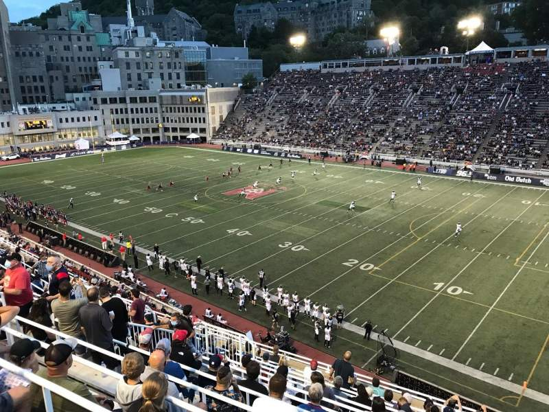 Seating view for Percival Molson Memorial Stadium Section Q2 Row 13 Seat 16