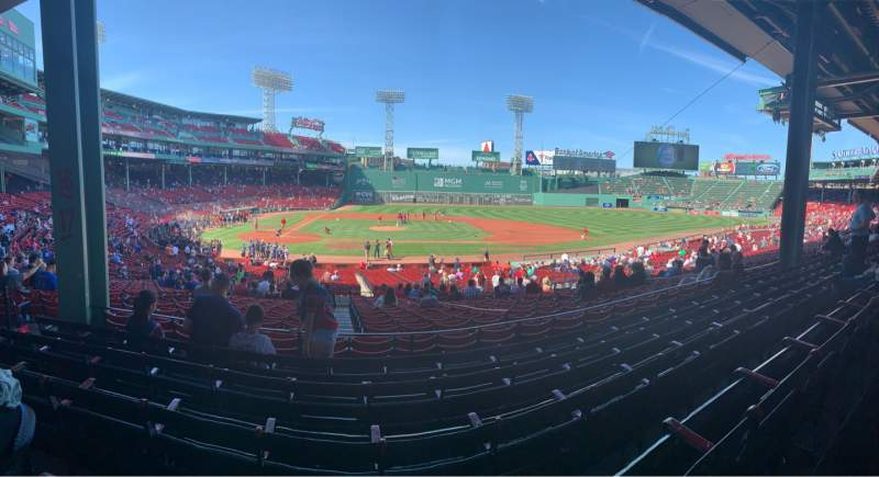 Seating view for Fenway Park Section Grandstand 16 Row 5 Seat 20