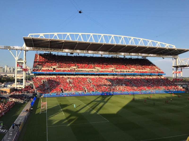 Seating view for BMO Field Section 227 Row 3 Seat 1