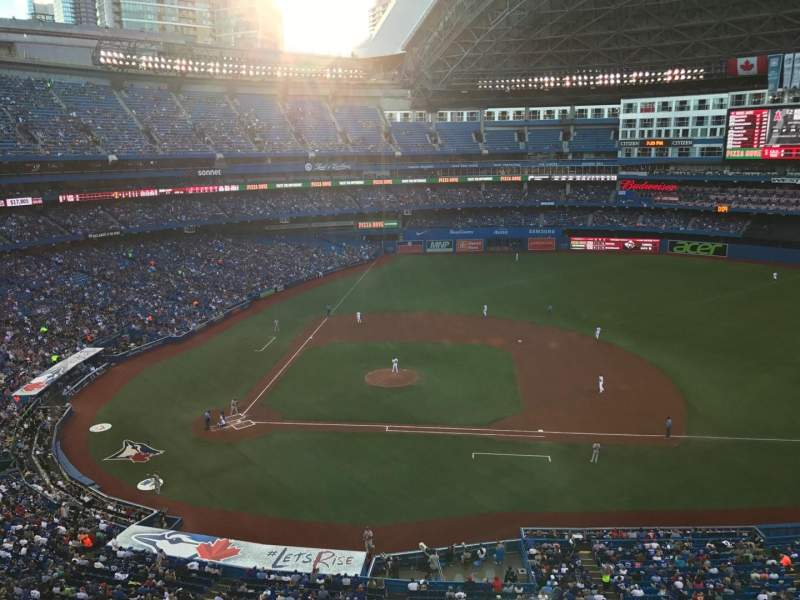 Seating view for Rogers Centre Section 519 Row 1 Seat 2