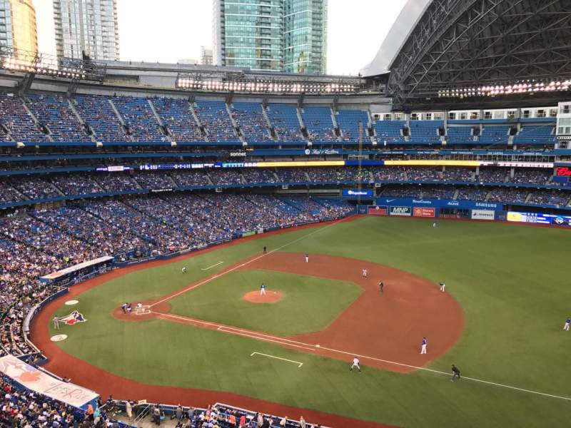 Seating view for Rogers Centre Section 516 Row 1