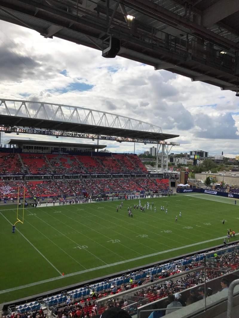 BMO Field, section: 211, row: 8, seat: 3