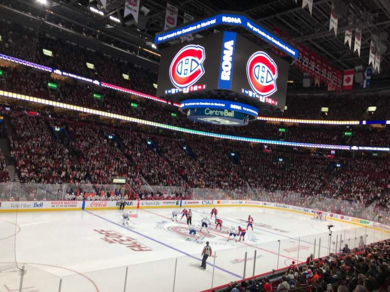 Seating view for Centre Bell Section 116 Row H Seat 6