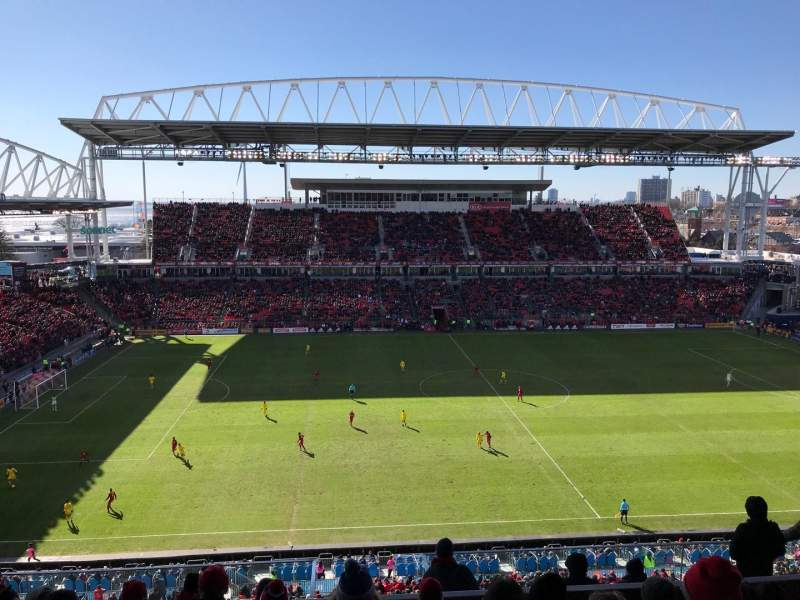 Seating view for BMO Field Section 208 Row 11 Seat 16
