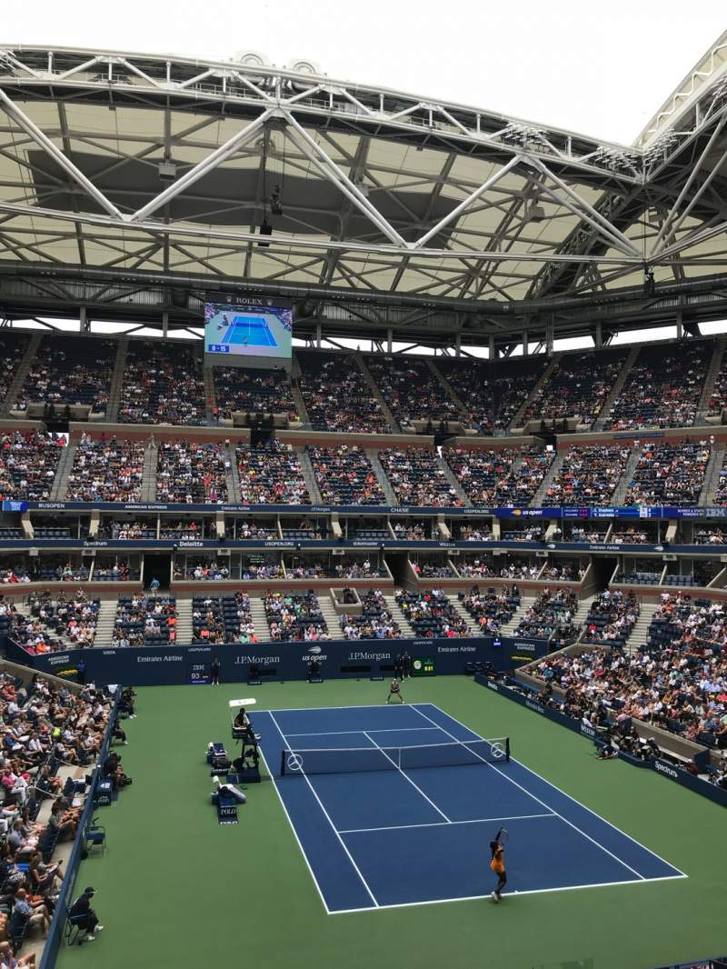 Seating view for Arthur Ashe Stadium Section S-247 Row 2