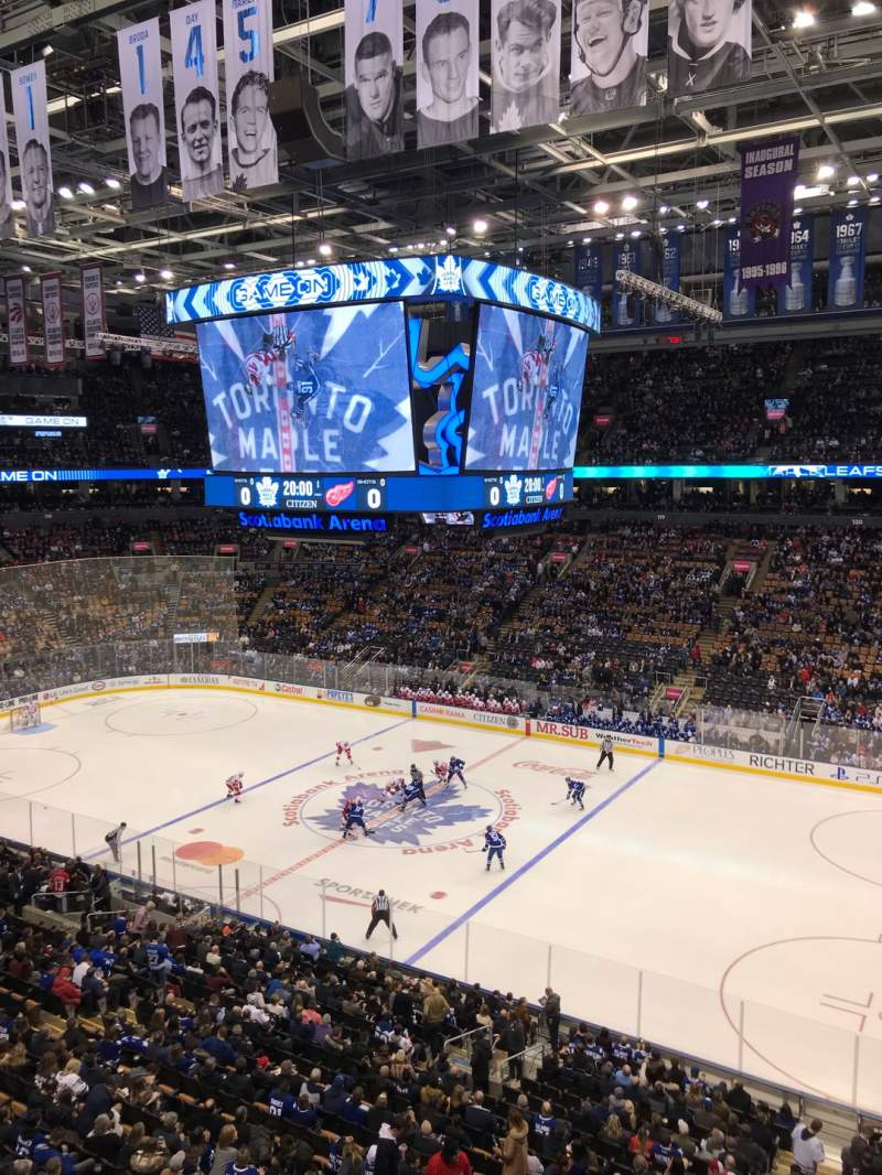 Seating view for Scotiabank Arena Section 307 Row 1 Seat 16