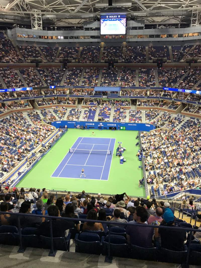 Seating view for Arthur Ashe Stadium Section 322 Row A Seat 9