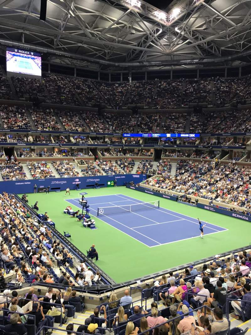 Seating view for Arthur Ashe Stadium Section S-244 Row 1 Seat 4