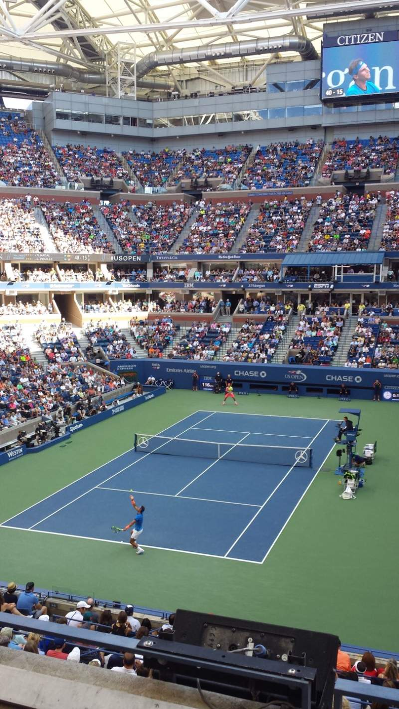 Seating view for Arthur Ashe Stadium Section S-227 Row 3